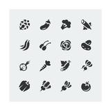 Vegetables Mini Icons Set Taide tekijänä  GreyJ