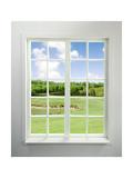 Modern Residential Window with Lake View Kunstdrucke von ilker canikligil