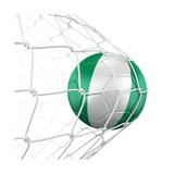 Nigerian Soccer Ball in a Net Kunst av  zentilia