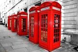 London Telephone Boxes Reproduction photographique par  duallogic