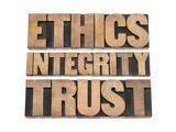 Ethics, Integrity, Trust Word Poster di  PixelsAway