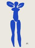 Papiers Decoupes - Nu Bleu Debout Reproduction pour collectionneur par Henri Matisse