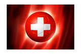 Soccer Football Ball with Switzerland Flag Poster di  daboost