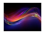 Digital Fractal Waves Print van  agsandrew