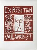 AF 1957 - Exposition Vallauris Impressão colecionável por Pablo Picasso
