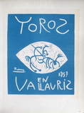 AF 1957 - Toros en Vallauris コレクターズプリント : パブロ・ピカソ