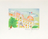 Cannes, Le Negresco Collectable Print by Valérie Hermant