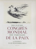 AF 1950 - Deuxième Congrès Mondial des Partisans d コレクターズプリント : パブロ・ピカソ