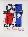 AF 1955 - Musée Morsbroich Impressão colecionável por Fernand Leger