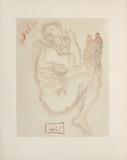 Divine Comedie, Purgatoire 19: Le songe de Dante Impressão colecionável por Salvador Dalí
