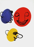Dlm221 - Visages Reproduction pour collectionneur par Alexander Calder
