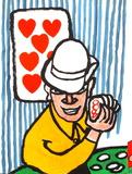 Dlm212 - Joueurs De Cartes II Reproduction pour collectionneur par Alexander Calder
