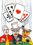 Dlm212 - Joueurs De Cartes I Reproduction pour collectionneur par Alexander Calder