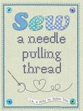 Sew A Needle Pulling Thread Blechschild
