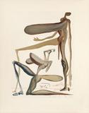 Divine Comedie, Purgatoire 22: La prodigalite Samletrykk av Salvador Dalí