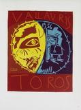 AF 1956 - Toros en Vallauris Impressão colecionável por Pablo Picasso
