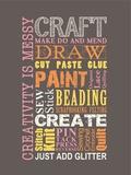 Craft Make Do Blechschild