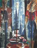 Interieur Flamand Samlertryk af Marcel Gromaire
