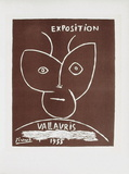 AF 1955 - Exposition Vallauris II コレクターズプリント : パブロ・ピカソ