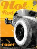 Hot Rod Racer Tin Sign