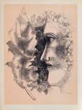 Tete et Feuille Impressão colecionável por Fernand Leger