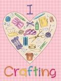 I Love Crafting Blechschild