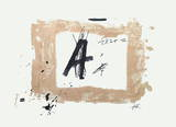 Lettre A Collectable Print by Antoni Tapies
