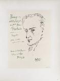 AF 1955 - Hommage à Machado Impressão colecionável por Pablo Picasso