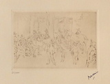 042 - Scene de fortifs Limited Edition by Jules Pascin