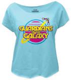 Juniors: Guardians of the Galaxy - Retro Logo (dolman) Camiseta
