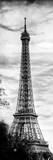 Eiffel Tower, Paris, France - Vintique Black and White Photography Fotografisk tryk af Philippe Hugonnard
