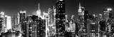 Panoramic View of Skyscrapers of Times Square and 42nd Street at Night Stampa fotografica di Philippe Hugonnard