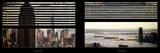 Window View with Venetian Blinds: Panoramic Format Valokuvavedos tekijänä Philippe Hugonnard