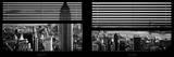 Window View with Venetian Blinds: Panoramic Skyline of Manhattan Photographic Print by Philippe Hugonnard