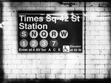 Subway Times Square - 42 Street Station - Subway Sign - Manhattan, New York City, USA Reproduction procédé giclée par Philippe Hugonnard