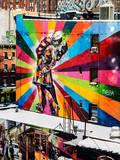 NYC Urban Street Art in Manhattan, in Winter Fotoprint av Philippe Hugonnard