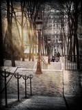 Instants of Series - Steps up to Montmartre - Paris, France Fotografisk trykk av Philippe Hugonnard