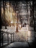 Instants of Series - Steps up to Montmartre - Paris, France Fotoprint van Philippe Hugonnard