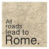 Map Rome Art by Lauren Gibbons