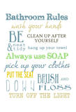 Bathroom Rules (Multi) Prints by Taylor Greene