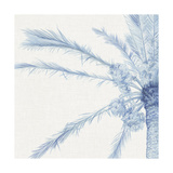 Chambray Palms I Metal Print by Megan Meagher