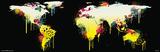 World Map-Graffiti Poster