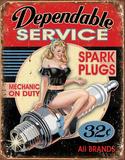 Dependable Service Tin Sign Tin Sign
