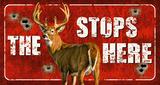 Buck Stops Here Tin Sign Placa de lata