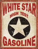 White Star Gasoline Tin Sign Tin Sign