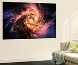 Spiral Galaxy In A Dark Space, Abstract Background Wall Mural by  molodec