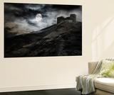 Night, Moon And Dark Fortress Seinämaalaus tekijänä  fotosutra.com