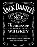 Jack Daniel's Black Logo Tin Sign Placa de lata