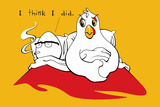 Chicken and Egg Snorg Tees Poster Poster di  Snorg