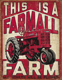 Farmall Farm Tin Sign Placa de lata